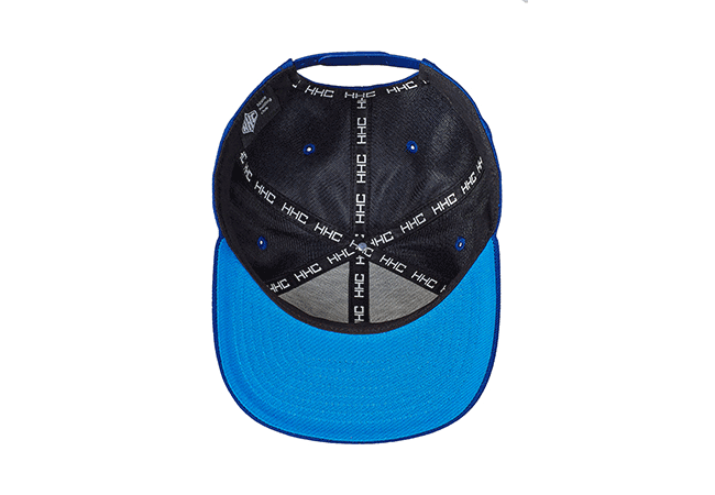 Snapback Cap blau 62 Unterseite