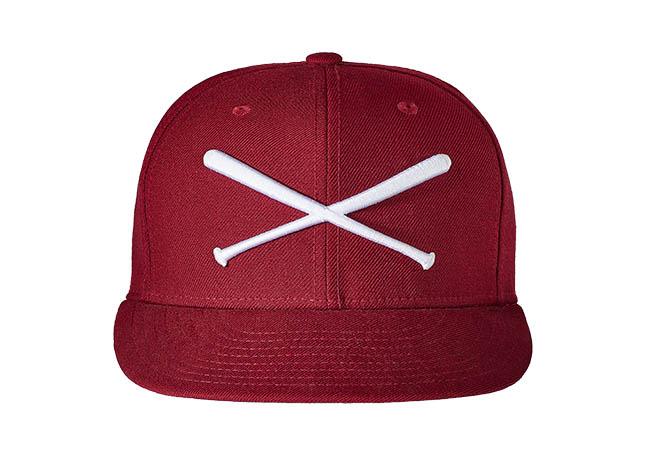 Snapback Cap rot 448 Rückseite