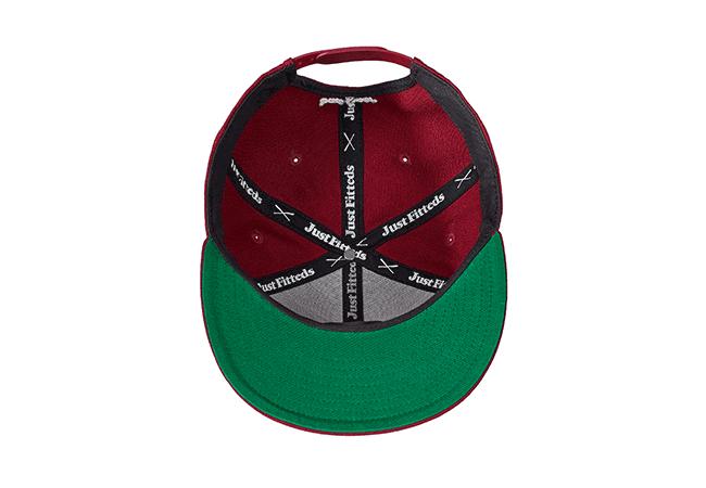 Snapback Cap rot 448 Unterseite
