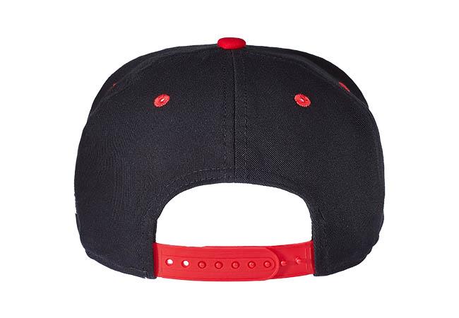 Snapback Cap schwarz rot 541 Rückseite