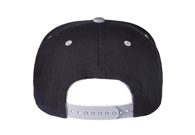 Snapback Cap schwarz grau 561 Rückseite