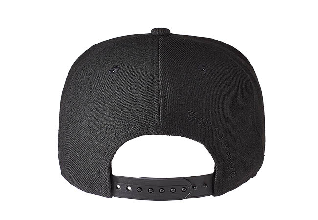 Snapback Cap Schwarz 595 Rückseite