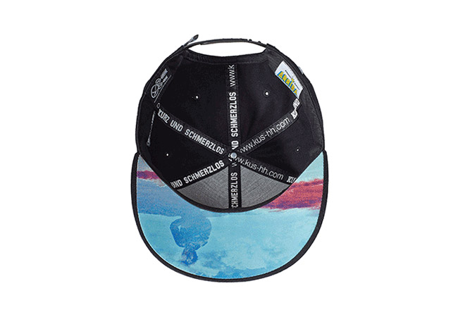 Snapback Cap schwarz blau 605 Unterseite
