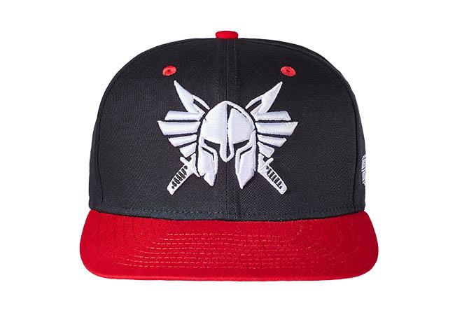 Snapback Cap Schwarz Rot 541 Vorderseite
