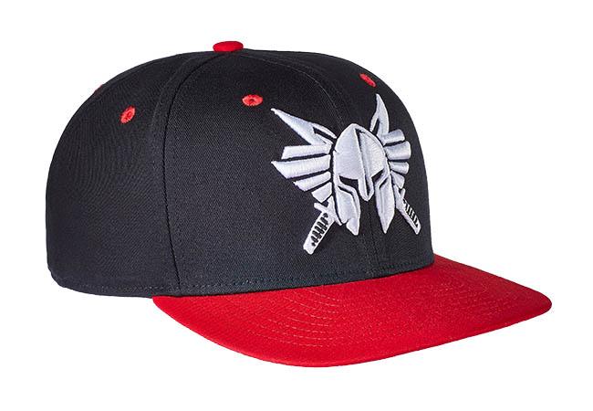 Snapback Cap Schwarz Rot 541 Seitenansicht