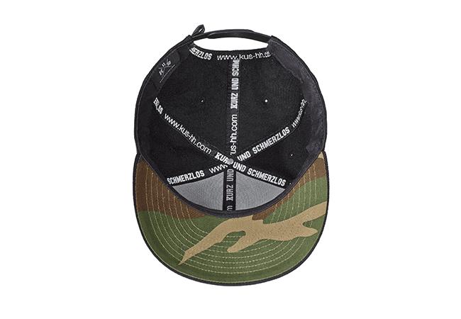 Snapback Cap Schwarz 534 Unterseite