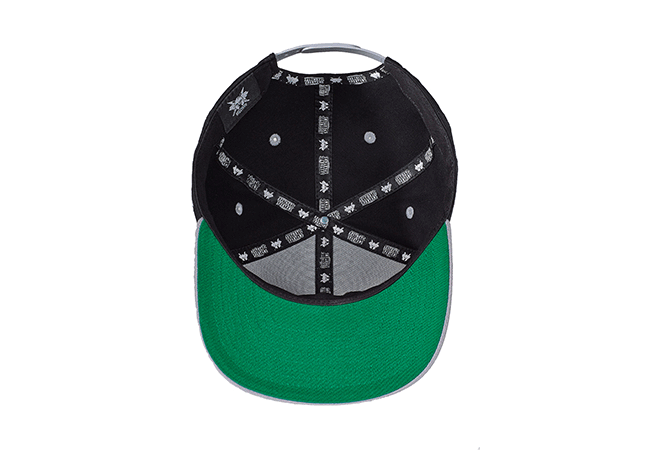Snapback Cap schwarz grau 561 Unterseite