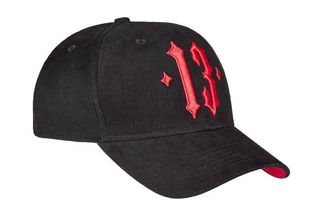 Snapback Cap Schwarz Rot 853 Seitenansicht