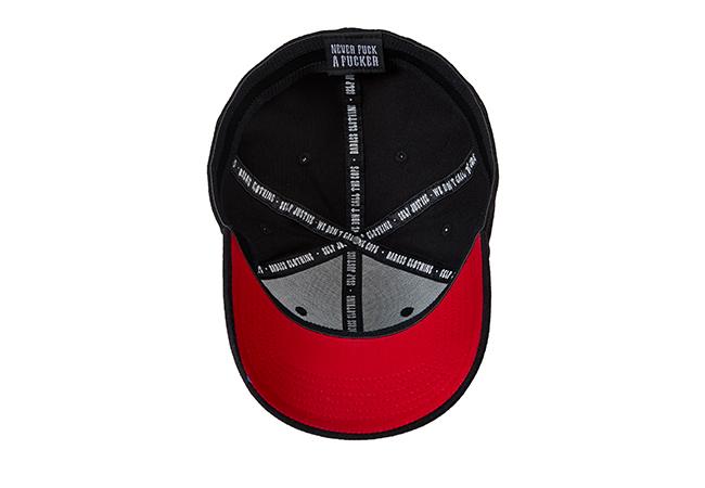 Snapback Cap Schwarz Rot 853 Unterseite