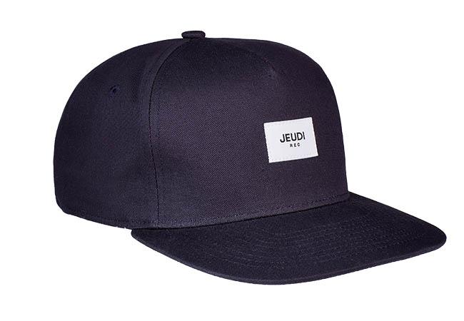 Snapback Cap schwarz 846 Seitenansicht