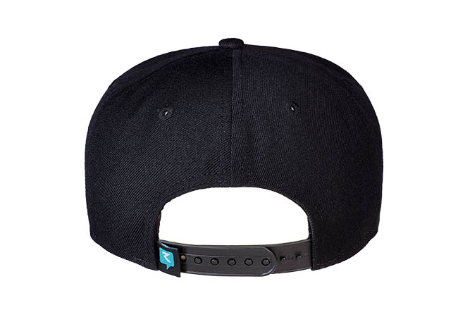 Snapback Cap schwarz 835 Rückseite