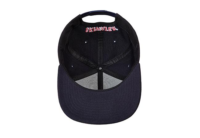 Snapback Cap Schwarz 806 Unterseite