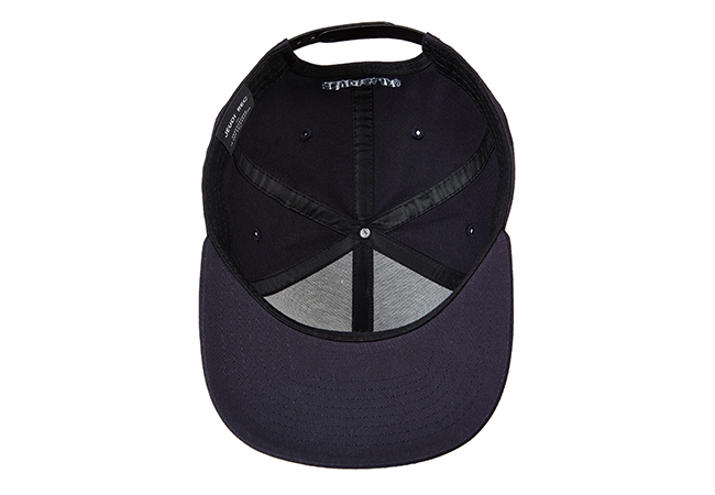 Snapback Cap Schwarz 846 Unterseite