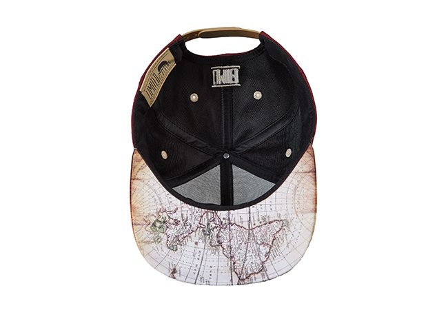 Snapback Cap Rot 792 Unterseite