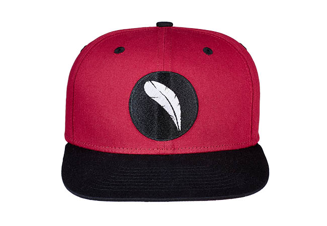Snapback Cap Rot 860 Frontansicht
